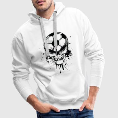 soccer skull kicker ball football pirat - Bluza męska Premium z kapturem