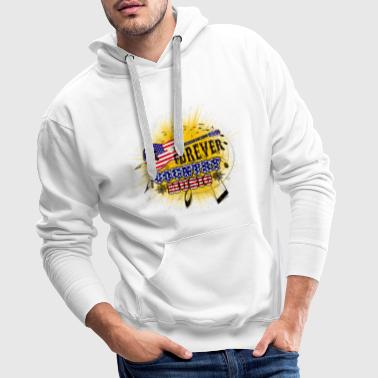 forever country music - Men's Premium Hoodie