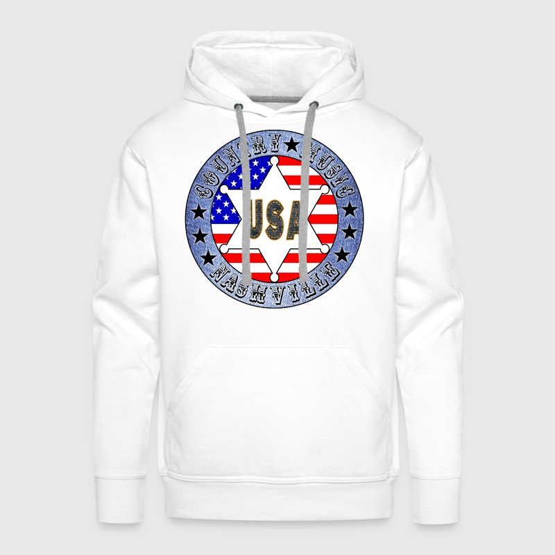 country music nashville - Men's Premium Hoodie