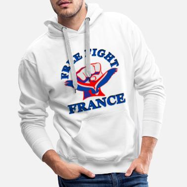 Mma Free Fight France. MMA - Sweat-shirt à capuche Premium pour hommes