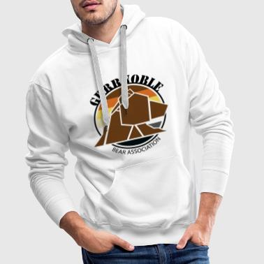 Logo 1 GRRRNOBLE BEAR ASSOCIATION - Sweat-shirt à capuche Premium pour hommes