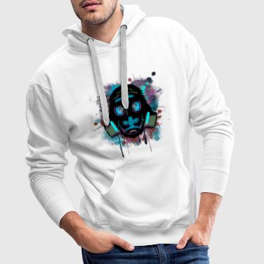 Urban Monkey with Gas mask Fallout - Men's Premium Hoodie