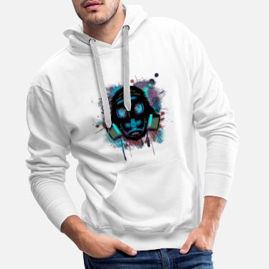 Gas Urban Monkey with Gas mask Fallout - Men's Premium Hoodie