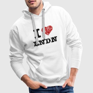 I Love LoNDoN vintage dark - Mannen Premium hoodie