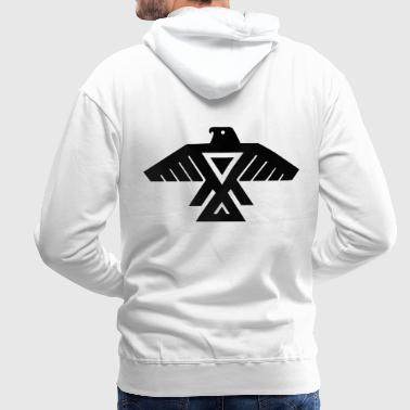 American Indian Thunderbird Totem - Men's Premium Hoodie