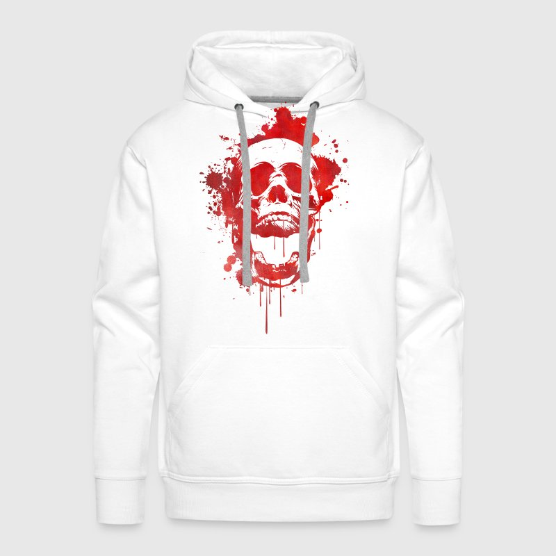 Blood splatter skull / Death Skull - Men's Premium Hoodie