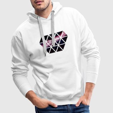 diamant de triangles - Sweat-shirt à capuche Premium pour hommes