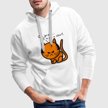 cat grumpy cat grunge on shirt - Sweat-shirt à capuche Premium pour hommes