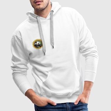 Giant panda eating bamboo in frame - Sweat-shirt à capuche Premium pour hommes