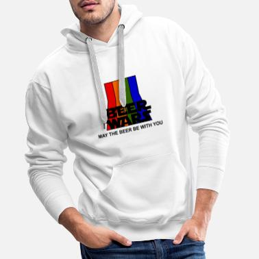 BEER WARS - May the beer be with you - Mannen Premium hoodie