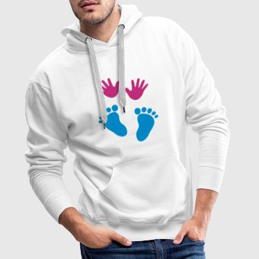 Baby hands and feet - Men's Premium Hoodie
