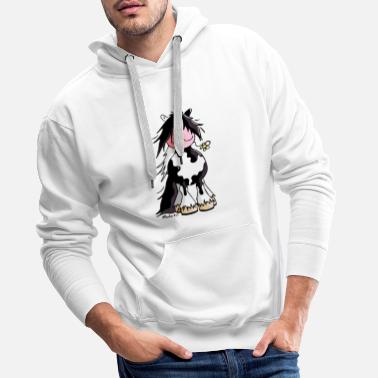 Cartoon Comic Irish Tinker - Gypsy Cob - Pferd - Männer Premium Hoodie