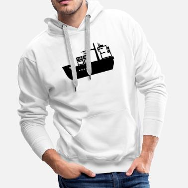 Wealth A ship of industry in the sea - Men's Premium Hoodie