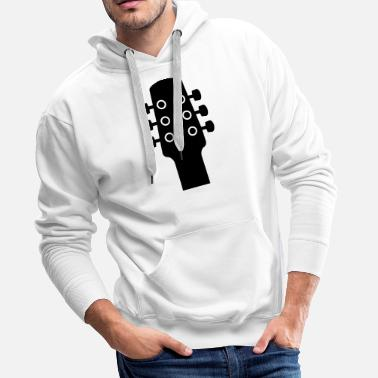 &amp Guitar with mechanics to tune the strings - Men's Premium Hoodie