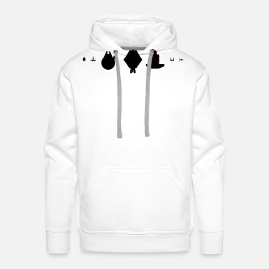 Ghost Ghost and co sci fi ships Silhouette - Men's Premium Hoodie