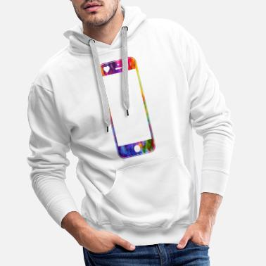 Mobile Phone Mobile phone with heart - Men's Premium Hoodie