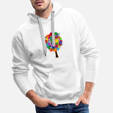 Painting Paint tree - Men's Premium Hoodie