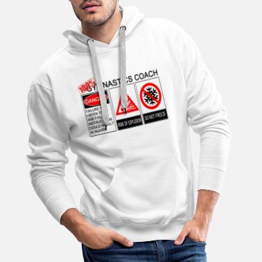 100% Gymnastics Coach by Realtai - Men's Premium Hoodie