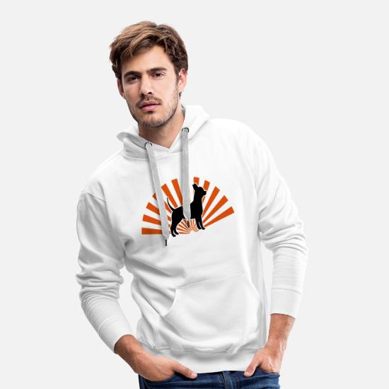 Love Hoodies & Sweatshirts - chihuahua star - Men's Premium Hoodie white