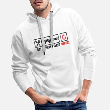 Play Eat play sleep repeat - Men's Premium Hoodie