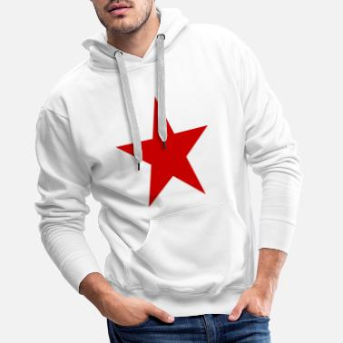 Red Star Star red, red star - Men's Premium Hoodie