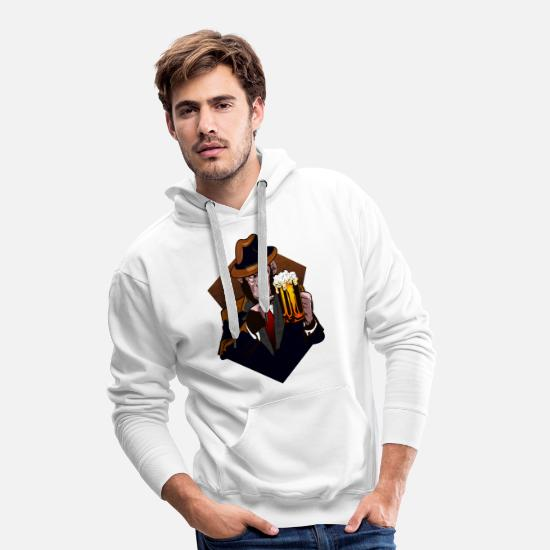 Brewery Hoodies & Sweatshirts - Beer chimpanzee - Men's Premium Hoodie white