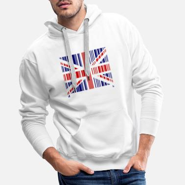 British Born in England London Football Gift British - Men's Premium Hoodie