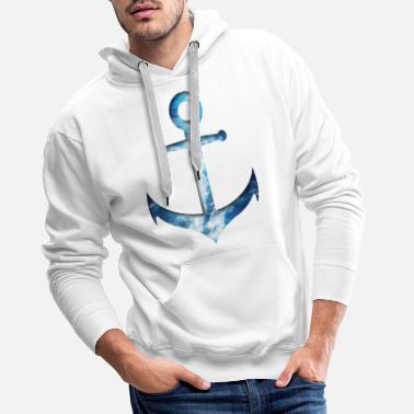 Anchor - water double exposure effect - Men's Premium Hoodie