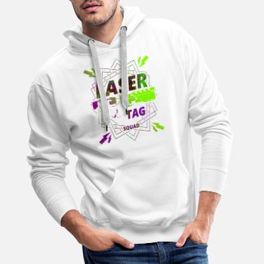 Laser Laser tag | Laser to win - Men's Premium Hoodie