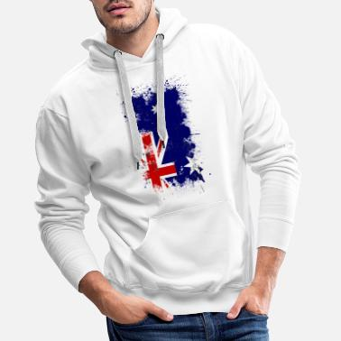 Australia flag art paint splatter - Men's Premium Hoodie