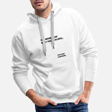 Clean Your Room Funny design - Men's Premium Hoodie