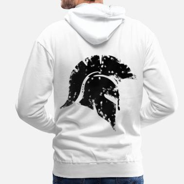 2reborn spartan honor honor warrior fighter warrio - Men's Premium Hoodie