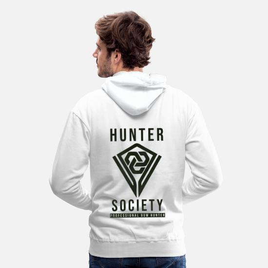 Birthday Hoodies & Sweatshirts - Archery Archer Arrow Bow Gift - Men's Premium Hoodie white