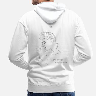 She is messy but she is kind [Alba Reche] - Men's Premium Hoodie
