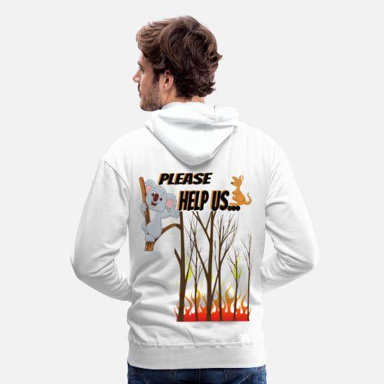 Animal Rights Activists Hoodies & Sweatshirts - Animal rights activist Koala - Men's Premium Hoodie white
