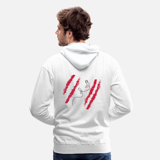 Lippen Pullover & Hoodies - Illustration Model - Männer Premium Hoodie Weiß