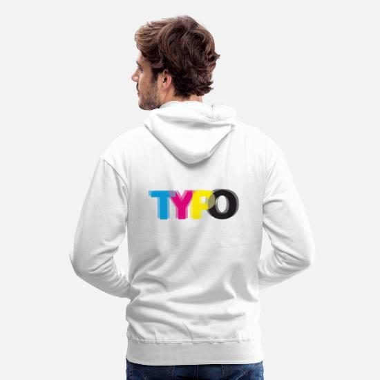 Symbol  Hoodies & Sweatshirts - Typo - for light fabrics - Men's Premium Hoodie white