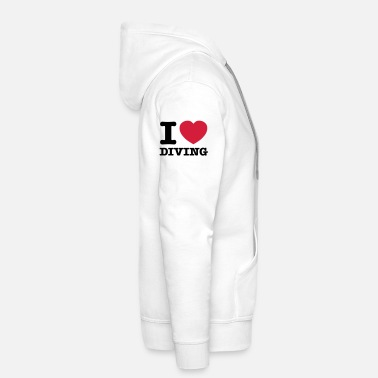 I Love Diving - Sweat à capuche premium Homme