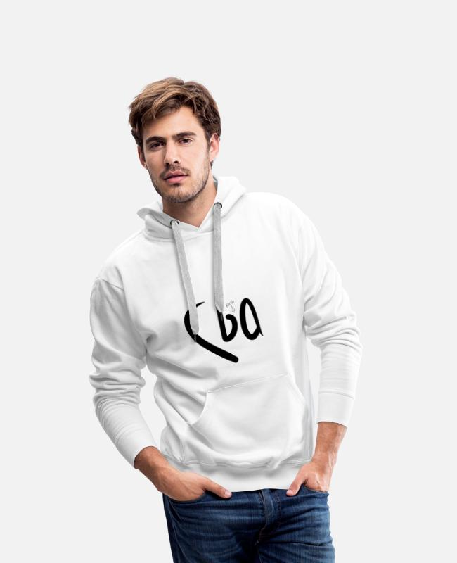 Lazy Hoodies & Sweatshirts - Can't Be Asked (CBA) - Men's Premium Hoodie white