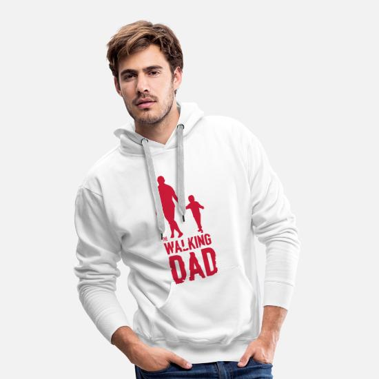 Son Hoodies & Sweatshirts - The Walking Dad - Men's Premium Hoodie white