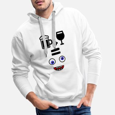 Bière + Vin = Crazy Happiness - Sweat à capuche premium Homme