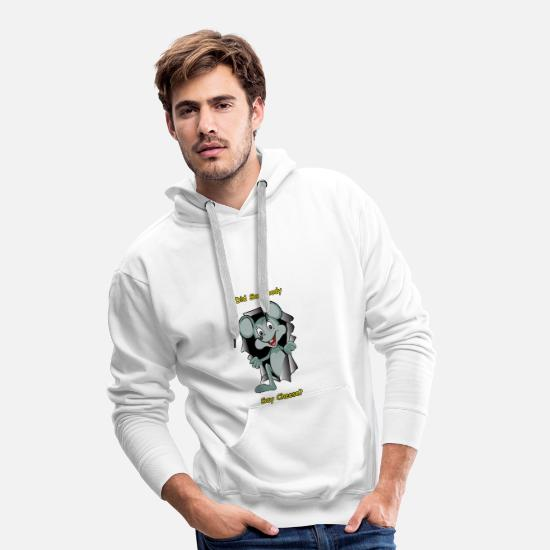 Fur Hoodies & Sweatshirts - Hungry Mouse - Men's Premium Hoodie white