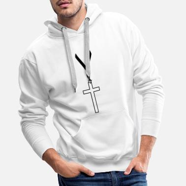 Vip Passport vip cross team crew friends live faith ch - Men's Premium Hoodie
