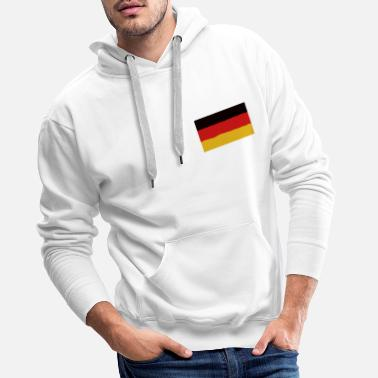 Drapeau allemand flammes Homme Allemagne Sweat à capuche Bundesflagge und HANDELSFLAGGE Football