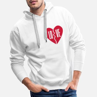Right lo - love right side couple shirt - Men's Premium Hoodie