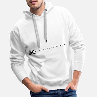 Cut Out Scissors on the dashed line - Men's Premium Hoodie