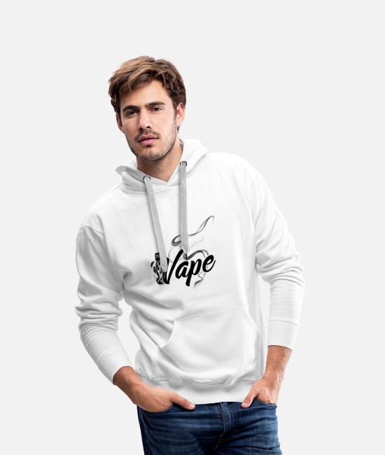 Vaping Hoodies & Sweatshirts - vape - Men's Premium Hoodie white