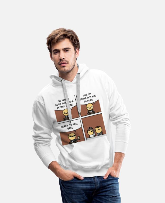 Engagement Hoodies & Sweatshirts - Wedding memes - Men's Premium Hoodie white
