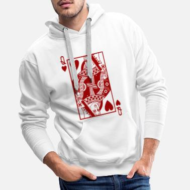 King Queen Coeur reine rouge - Sweat à capuche premium Homme