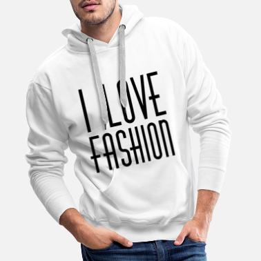 3 I LOVE FASHION 90s STYLE RETRO 1990 90ies PARIS - Men's Premium Hoodie